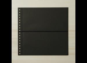 LINDNER Omnia Einsteckblatt 02 schwarz mit 2 Streifen