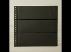 LINDNER Omnia Einsteckblatt 03 schwarz mit 3 Streifen