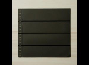 LINDNER Omnia Einsteckblatt 04 schwarz mit 4 Streifen