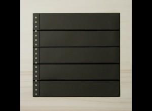 LINDNER Omnia Einsteckblatt 05 schwarz mit 5 Streifen