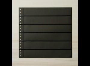 LINDNER Omnia Einsteckblatt 06 schwarz mit 6 Streifen
