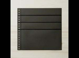 LINDNER Omnia Einsteckblatt 081 schwarz 3x 43 und 1x 141 mm