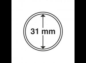 Münzkapseln Innendurchmesser 31 mm, 10 Stück