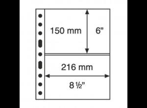 5 Kunststoffhüllen GRANDE 2C, 2 waagerechte Streifen, glasklar