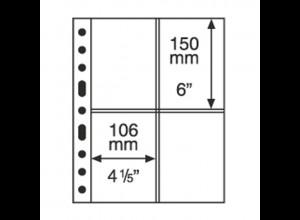 5 Kunststoffhüllen GRANDE 2ST, mit 2 x 2 Taschen, schwarz