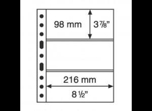 5 Kunststoffhüllen GRANDE 3C, 3 waagerechte Streifen, glasklar