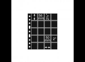 5 Kunststoffhüllen GRANDE 5/4S, 20 Taschen, 50 x 56, schwarz