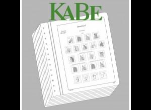 KABE 10 Blankoblätter 23A BI mit Aufdruck Rahmen + Bundesrepublik Deutschland
