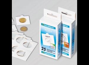 25 Münzrähmchen selbstklebend für Münzen bis 22,5 mm Ø