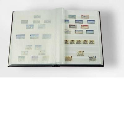 Einsteckbuch COMFORT, 64 WEISSE Seiten A4, wattiert, schwarz