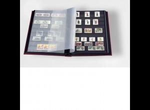 Einsteckbuch COMFORT, 64 SCHWARZE Seiten A4, wattiert, grün