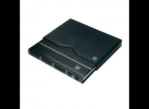 Einsteckbuch A4, 64 schwarze Seiten, PREMIUM S64 SET, Leder ROT + Schuber