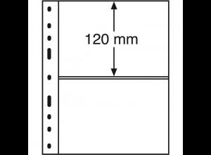 Leuchtturm Kunststoffhüllen OPTIMA 2C, 10 Stück 2er-Teilung, glasklar