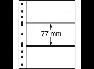 Leuchtturm Kunststoffhüllen OPTIMA 3S, 10 Stück 3er-Teilung, schwarz