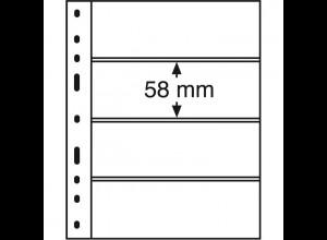 Leuchtturm Kunststoffhüllen OPTIMA 4C, 10 Stück 4er-Teilung, glasklar