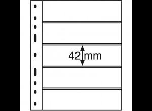 Leuchtturm Kunststoffhüllen OPTIMA 5C, 10 Stück 5er-Teilung, glasklar