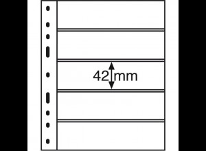 Leuchtturm Kunststoffhüllen OPTIMA 5S, 10 Stück 5er-Teilung, schwarz