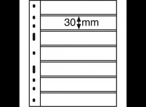 Leuchtturm Kunststoffhüllen OPTIMA 7S, 10 Stück 7er-Teilung, schwarz