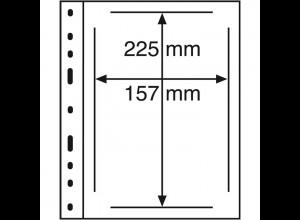 Kunststoffhüllen OPTIMA für ETB, 10 Stück 1er-Teilung, glasklar
