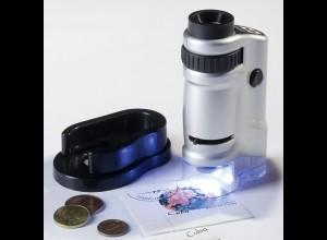 Zoom-Mikroskop mit LED 20- bis 40-fach