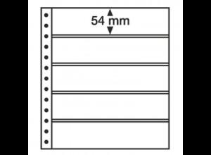 LEUCHTTURM R-Tafeln 5S für Ringbinder, 5er Einteilung, schwarz, 5 Stück