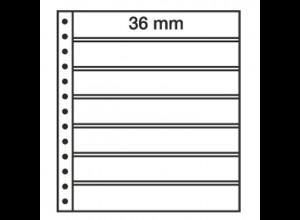 LEUCHTTURM R-Tafeln 7S für Ringbinder, 7er Einteilung, schwarz, 5 Stück