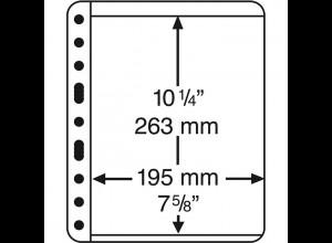 Kunststoffhüllen VARIO EXTRA STARKE Folie, 1 Streifen, schwarz, 5er-Pack