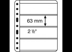 Kunststoffhüllen VARIO EXTRA STARK 4er-Teilung schwarz, 5er-Pack