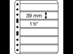 Kunststoffhüllen VARIO EXTRA STARK 6er-Teilung schwarz, 5er-Pack