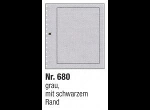 SAFE 680 Blankoblätter grau, schwarzer Rand, 10er-Pack