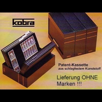 KOBRA-Kassette schwarz für A5-Karten, leer - ohne Karten (Kobra KS)