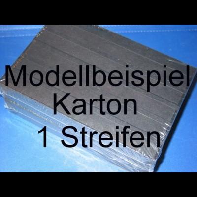 KOBRA Einsteckkarten A5, stabiler Karton, K01 - 1 Streifen