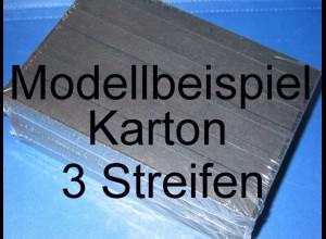 KOBRA Einsteckkarten A5, stabiler Karton, K03 - 3 Streifen