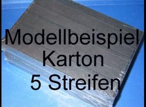 KOBRA Einsteckkarten A5, stabiler, schwarzer Karton, K05 - 5 Streifen