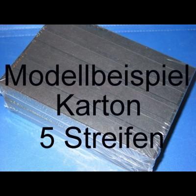 KOBRA Einsteckkarten A5, stabiler, schwarzer Karton, K05 - 5 Streifen, 50er-Pack