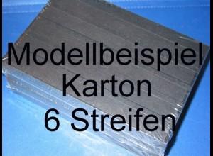 KOBRA Einsteckkarten A5, stabiler Karton, K06 - 6 Streifen