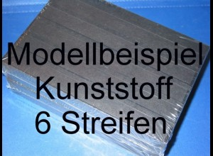 KOBRA-Einsteckkarte C5, Kunststoff, K16 - 6 Streifen, 50 Stück