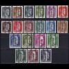 674-692 senkrechter Aufdruck Österreich, 19 Pfennigwerte komplett **