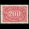 248 200 Mark, mit PLF verstümmeltes ic in Reich, Feld 3, **