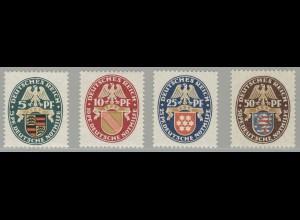 398-401 Nothilfe Wappen 1926, Satz ** postfrisch / MNH