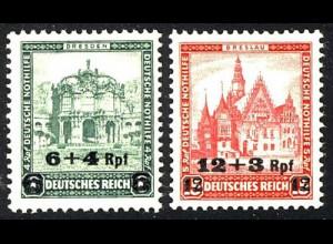 463-464 Nothilfe Aufdruck 1932 - Satz ** postfrisch