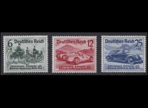 686-688 IAA Berlin 1939 - Satz mit drei Werten, postfrisch **