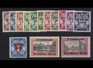 716-729 Aufdruck-Satz Danzig kompletter Satz postfrisch **