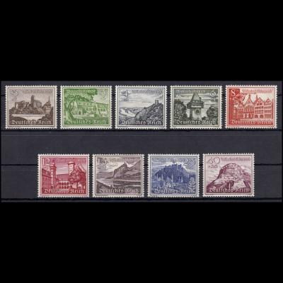 730-738 Winterhilfe/Bauwerke 1939 - kompletter Satz ** postfrisch