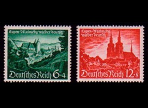 748-749 Eupen/Malmedy 1940 - Satz **