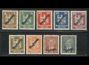 105-113 Adler/Stephan, schlangenförmiger Aufdruck - Satz postfrisch