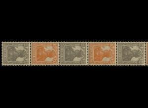 98-99a Germania - ZD aus Rolle, 11er-Streifen 2 1/2 Pf. etc. **