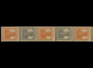 98-99a Germania - ZD aus Rolle, 11er-Streifen 7 1/2 Pf. etc. **