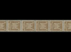 355 Reichsadler 3 Pf. aus der Rolle, ungefalteter 11er- Streifen postfrisch **