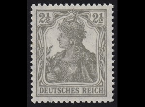 98x Germania 2 1/2 Pf mit Friedensgummi (reinweiß, matt) ** postfrisch, geprüft